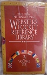 The New International Webster`s Pocket Reference Library 3 Volume Set. book