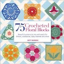 75 Crochet Floral Blocks-Betty Barnden book