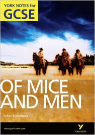 York Notes For GCSE Of Mice And Men - John Steinbeck book