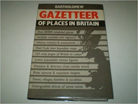 Bartholomew Gazetteer of Places in Britain- Oliver Mason book